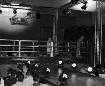 Die Turnhalle der Laute-Dei-Str. als Wettkampf-Arena.